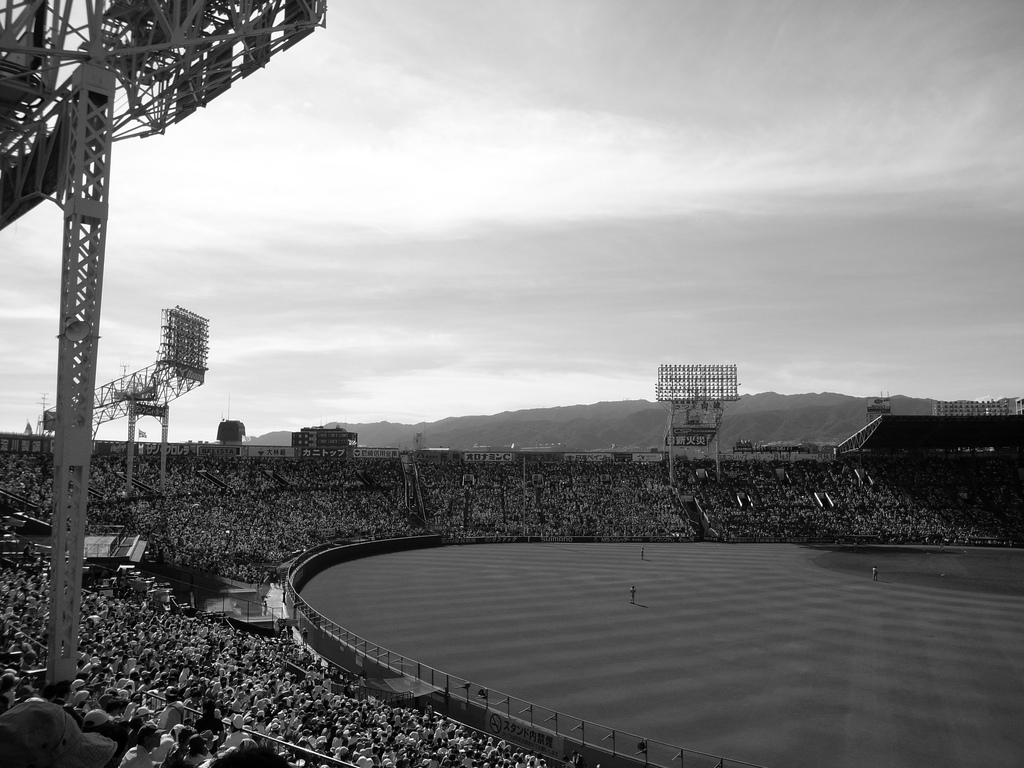 Koshien Stadium. Photo taken by mah_japan from flickr