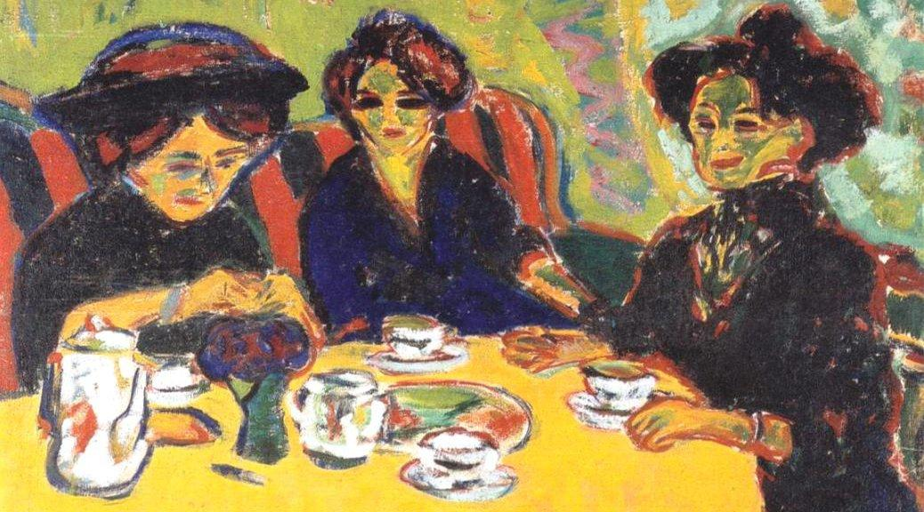 Coffee Drinking Women by Ernest Ludwig Kirchner