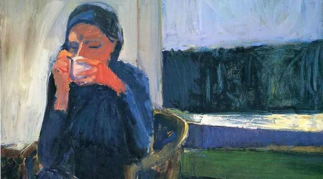 Richard Diebenkorn, _Coffee_, 1959. Oil on canvas, 57 1/2 in. x 52 1/4 in.; © Estate of Richard Diebenkorn