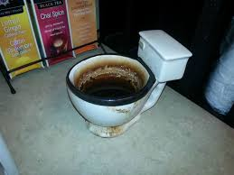 Toilet bowl coffee cup