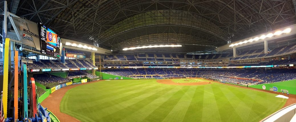 Marlins Park panorama from outfield