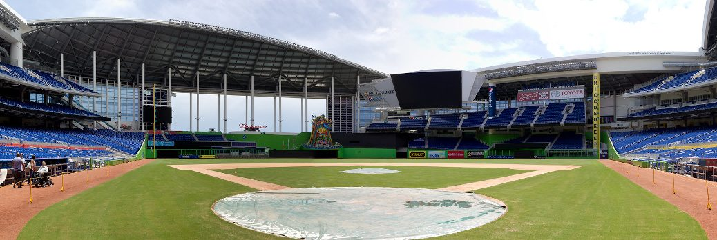 Marlins Park panorama from home plate